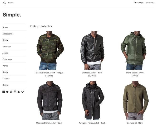 Simple Shopify Theme