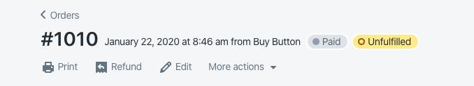 Refund in Shopify
