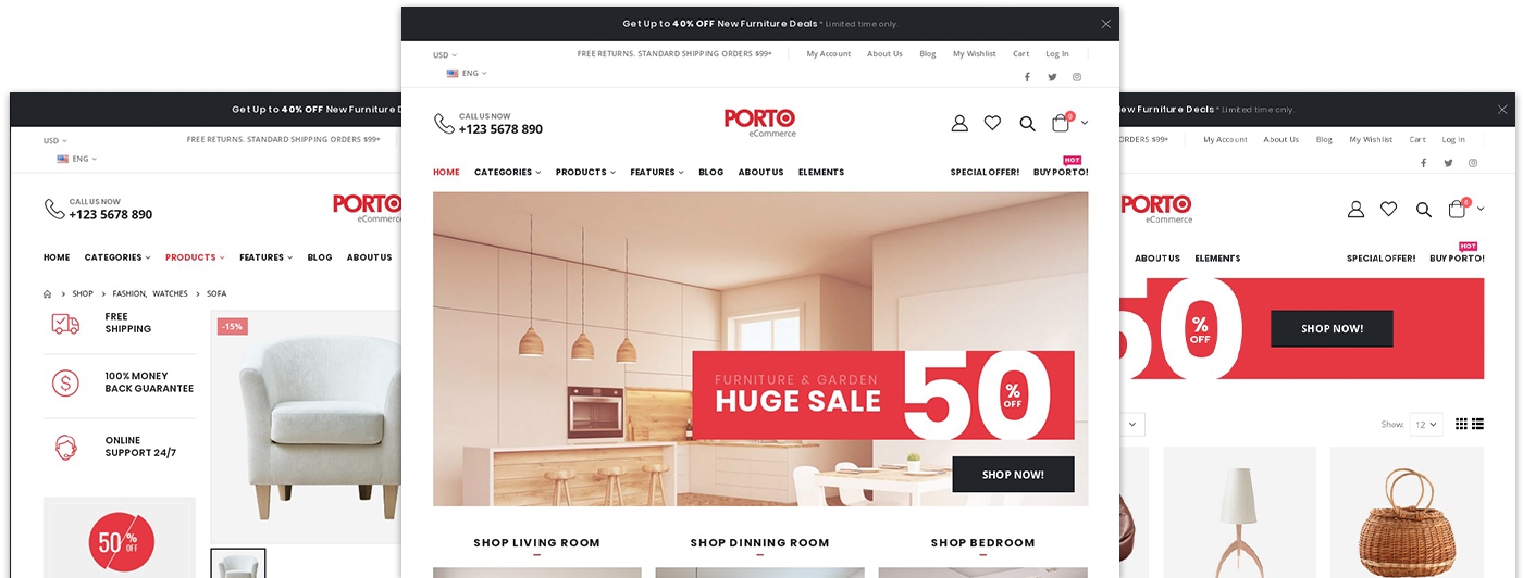 Multipurpose Porto WordPress Theme